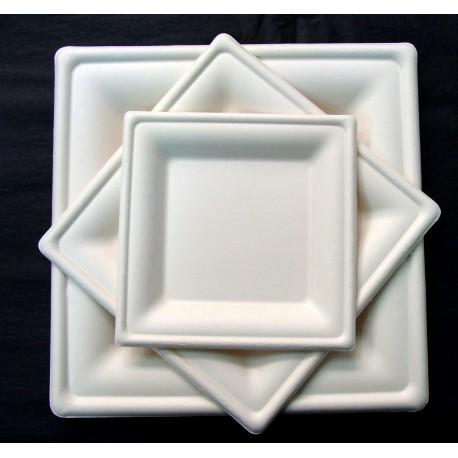 Plat quadrat compostable premium 26x26cm pack 125u