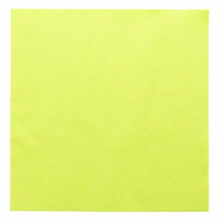Paquet tovallons verd 2 capes 39x39cm 100u