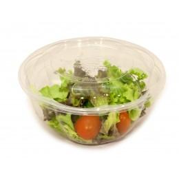 Bol amanida PLA compostable + tapa pack 10u