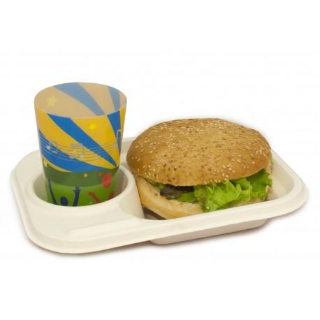 Safata compostable street food pack 10u