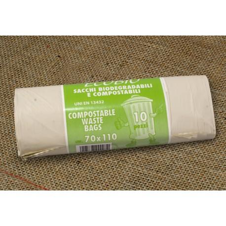 Bossa escombraries compostable 70 x100 cm paq.10u
