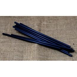 Canyes compostables negres paq. 100u