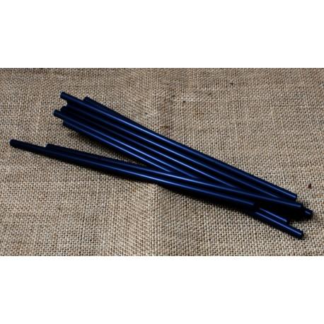 Canyes compostables negres paq. 50u