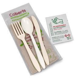 Joc de 3 coberts compostables (cullera)